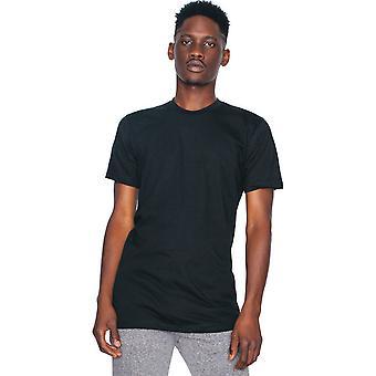 American Apparel Mens Fine Jersey kort erme 100% bomull t-skjorte