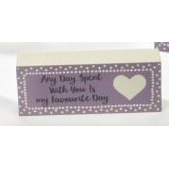 Mum Mini Standing Plaque - Favourite Day by Langs