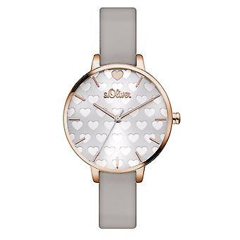 s.Oliver Damen Uhr Armbanduhr Leder SO-3475-LQ