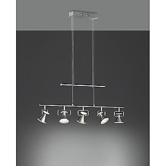 Trio Lighting Duke Modern Nickel Matt Metal Pendant