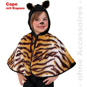 Tiger costume child Tiger cloak Cape wild cat Childs costume