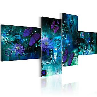 Canvas Print - Butterflies in turquoise