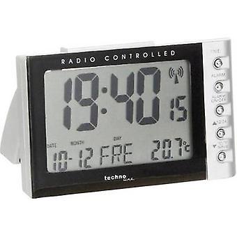 Techno Line WT 188 Radio Alarm clock Silver, Black Alarm times 1