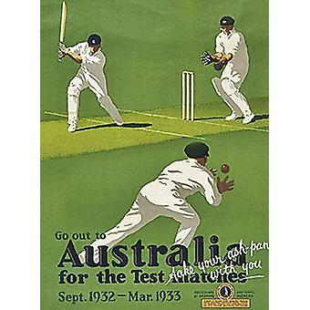 Australia For The Test Matches Small Metal Sign 200Mm X 150Mm
