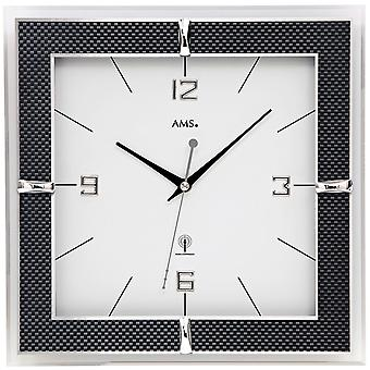 AMS 5855 wall clock radio mineral glass carbon applications