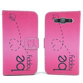 Matkapuhelin tapauksessa pussi mobiili Samsung Galaxy S3 / S3 neo olla onnellinen vaaleanpunainen