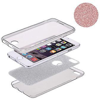 Couverture de Crystal Case pour Apple iPhone X glitter cas complet du corps Rose Gold