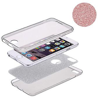 Capa Crystal Case para Apple iPhone X glitter caso corpo cheio de Rose Gold