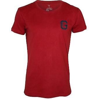Gant Brushed Cotton Jersey Crew-Neck T-Shirt, Burgundy