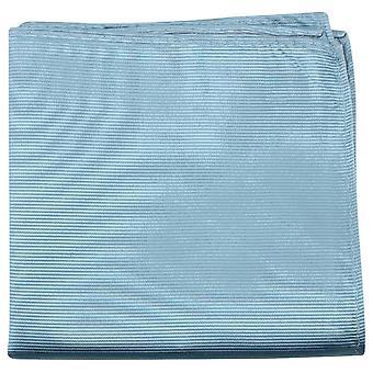 Knightsbridge Neckwear striées mouchoir de poche de soie - bleu ciel