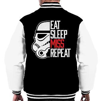 Originele Stormtrooper eten slaap Miss Repeat mannen Varsity Jacket