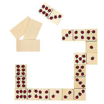 Houten Domino - Lieveheersbeestje