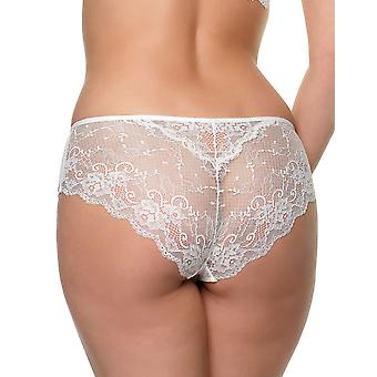 After Eden D-Cup & Up 20.30.7520-013 Women's Granada Off White Lace Knickers Panty Full Brief