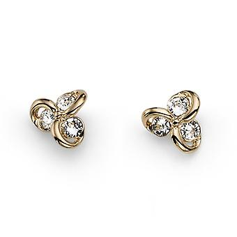Oliver Weber Post Earring Compo Gold Crystal