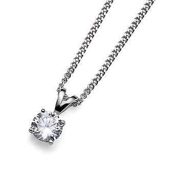 Oliver Weber Pendant Simply One 925Ag Rhodium Crystal
