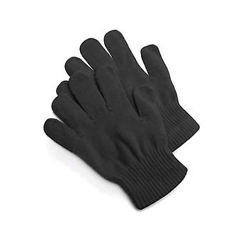 Handschoenen gebreide handschoenen zwart