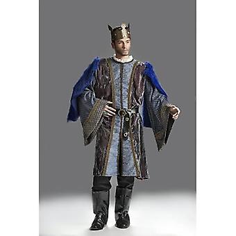 Rey traje de los hombres emperador Barbar rey traje medieval Señor