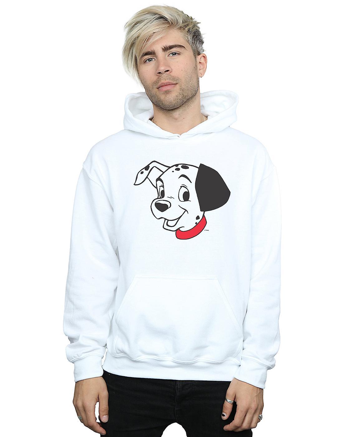 Disney Men's 101 Dalmatians Dalmatian Head Hoodie