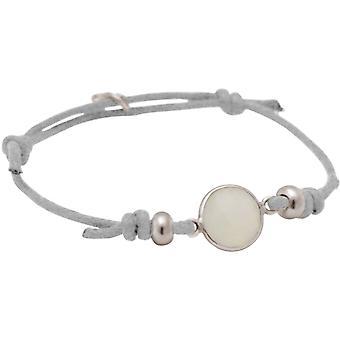 Gemshine damski węzeł bransoletka biały jadeit - 925 srebrny, z klasą pozłacane lub róża