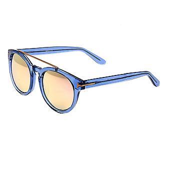 Bertha Ava polarizada óculos de sol - ouro azul/rosa