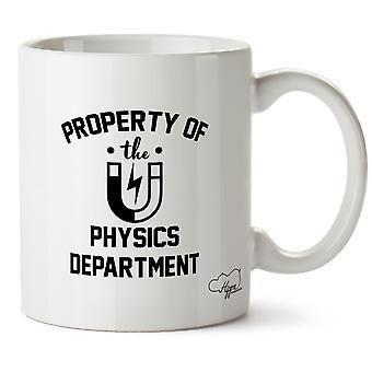 Hippowarehouse propriété du département de physique de l'imprimé tasse tasse en céramique 10oz