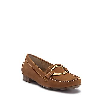 Anne Klein kvinners Harmonie skinn mandel Toe Loafers
