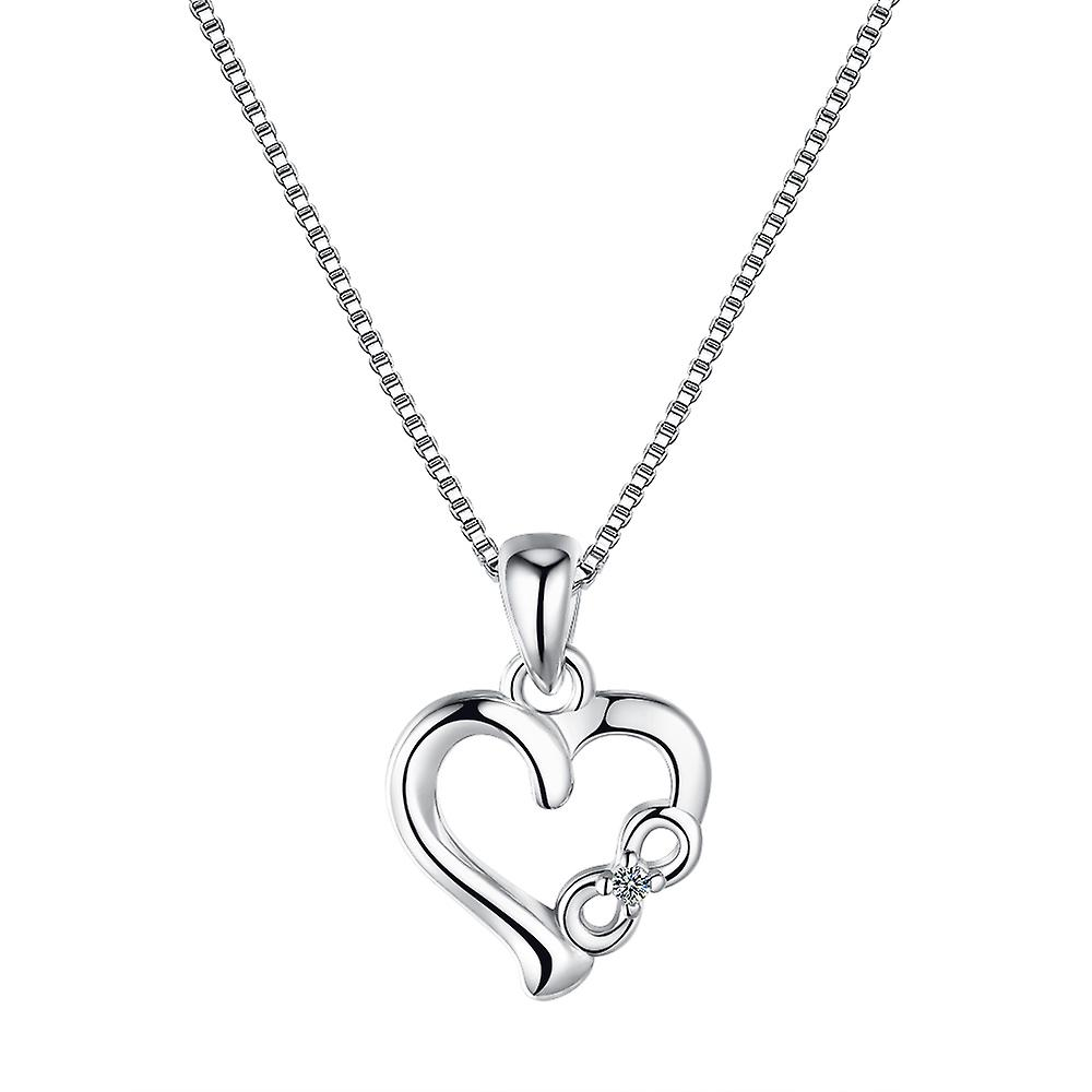 925 Sterling Silver Love You To Infinity Pendant Necklace And Stud Earrings