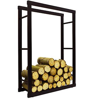 Onida - Metal 70cm bred Fireside Log opbevaring Rack - sort