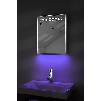 Shaver Mirror with UnderLighting, Bluetooth, Demist & Sensor k8sWaud