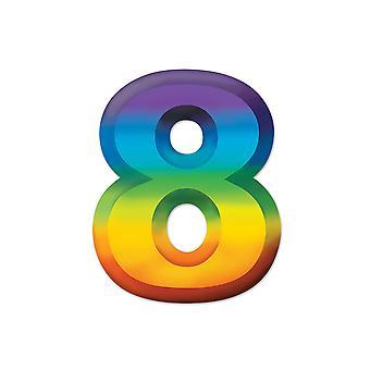 Multi-Color kunststof 3-D nummer 8