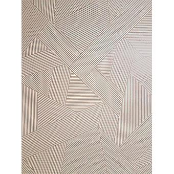 Striped Geometric Silver Rose Gold Wallpaper Metallic Glitter Effect Shimmer