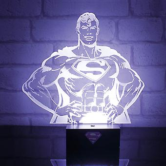 Superhero Mood Light Lamp Superman stanowisko nowego Oficjalne DC Comics