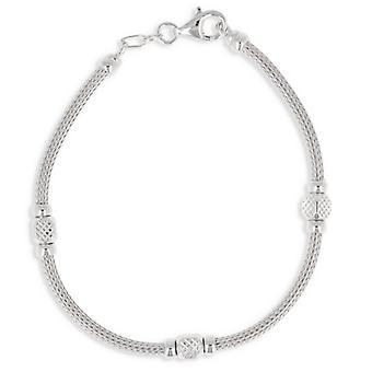 Rhodié Silver Bracelet 19cm
