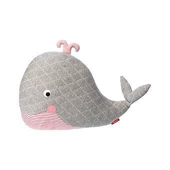 Sigikid Hug Pillow Whale Grey Urban Baby