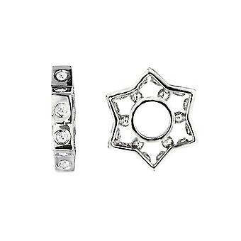 Storywheels Silver & Diamonds Star charme S040D