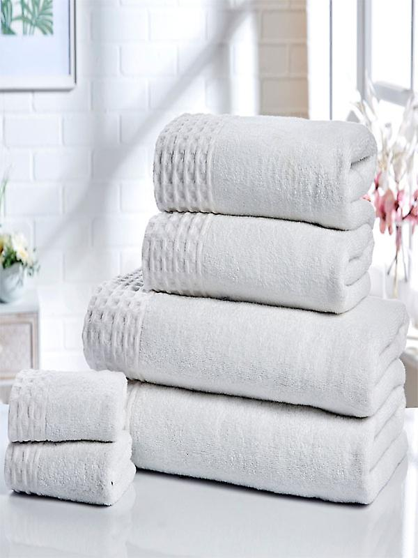 Retreat 6 Piece Towel Bale White