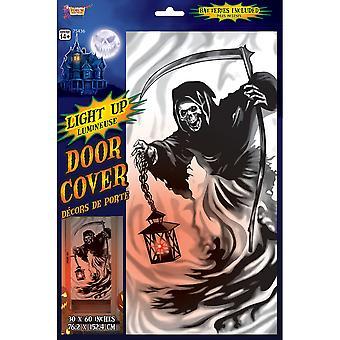 Bristol Novelty Light Up Grim Reaper Halloween Door Cover