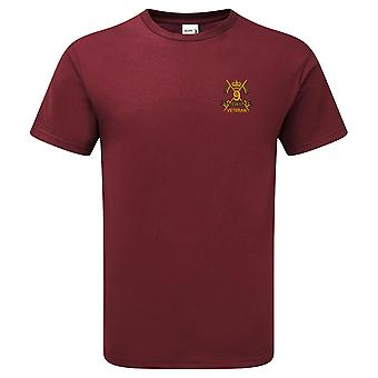 9th Queens Royal Lancers Veteran - Licensed British Army Embroidered Premium T-Shirt