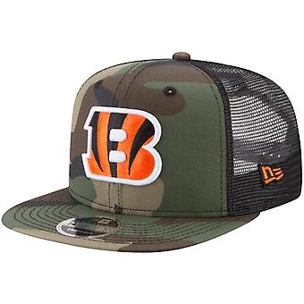 New Era 9Fifty Mesh Snapback Cap Cincinnati Bengals wood