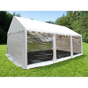 Tente de réception Original 4x6m PVC, Panoramique, Blanc