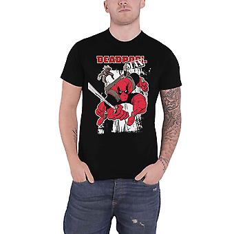 Deadpool T Shirt Deadpool Max Logo new Official Marvel Comics Mens Black