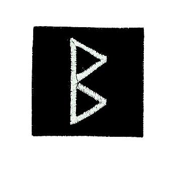 Patch Ecusson Brode Thermocollant Viking Odin Witchcraft Rune Alphabet Hirch