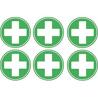 Sticker sticker cross first aid emergency box kit
