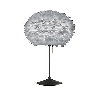 Umage Eos Table Lamp - Light Grey Feather Eos Medium/Black Stand