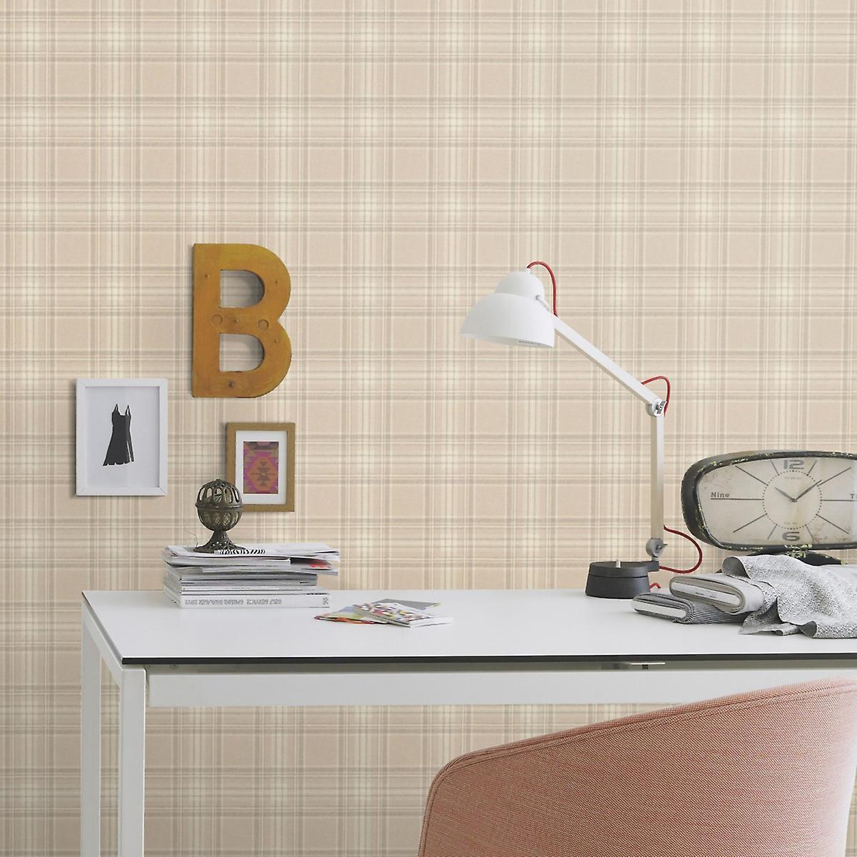Barbara Becker Tartan Wallpaper Rasch