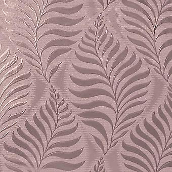 Metallic Foil Vinyl Leaf Wallpaper Rose Gold Floral Geometric Shimmer Arthouse