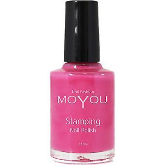 MoYou Stamping Nail Art - Special Nail Polish - Pink 12ml