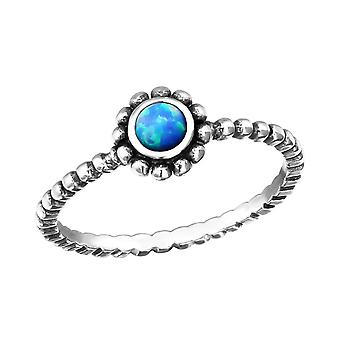 Twisted Band - 925 Sterling Silver Jewelled Rings - W30856x