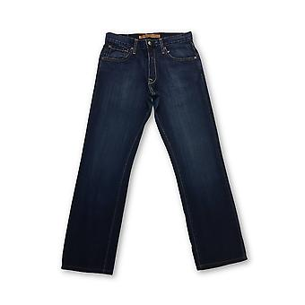 Agave Gringo classic straight denim jeans in dark blue