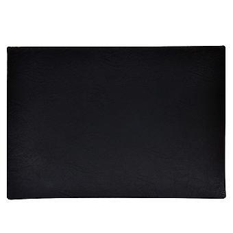 Carpet leather look black 43x30 cm 4-pack tablet